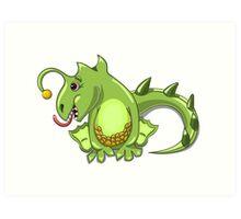small dragon play with boll Art Print