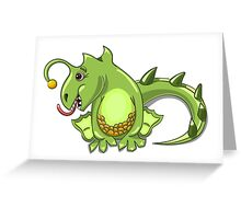 small dragon play with boll Greeting Card