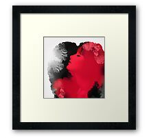 Psychedelic Ink Red Girl Framed Print