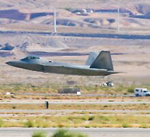 F-22 Raptor Takes Off by Henry Plumley