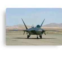 F-22 Raptor Taxiing Canvas Print