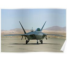 F-22 Raptor Taxiing Poster