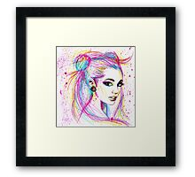 Gesabelle in Moonlight Framed Print