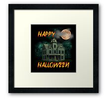 Haunted Mansion - Happy Halloween Framed Print