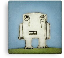 Sad Monster Baby Crying Canvas Print