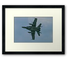 188759 A Royal Canadian Air Force CF-188 (F/A-18 Hornet) banks on arrival Framed Print