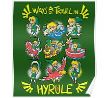 Ways of travel in hyrule Poster