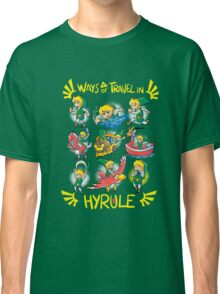Ways of travel in hyrule Classic T-Shirt
