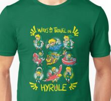 Ways of travel in hyrule Unisex T-Shirt