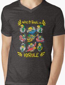 Ways of travel in hyrule Mens V-Neck T-Shirt