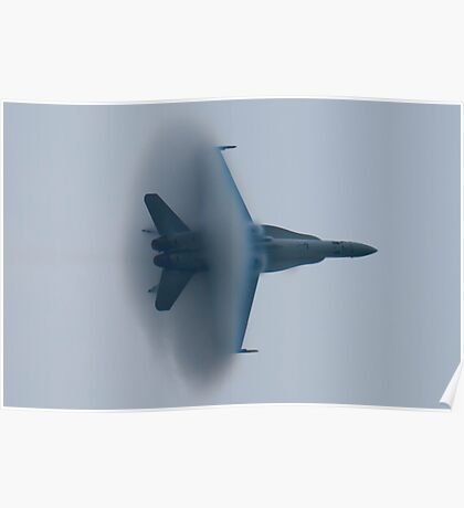 F/A-18A Hornet, VFA-106 AD-347, vapor cone Poster