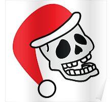 ha ha ha smiling skull SANTA for Christmas Poster