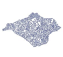 Navy Blue Isle of Wight map by BlueToolips