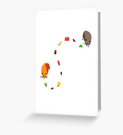 Hamster trail  Greeting Card