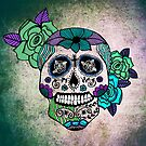 Sweet Sugar Skull blue edition by sandra arduini