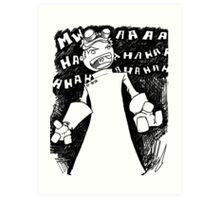 Doctor Horrible - Transparent Evil Laugh Art Print