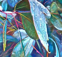 Iphone Cover - Gum Leaves by Lynda Robinson