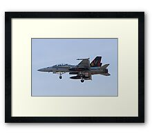 164696 F/A-18D Hornet On Approach Framed Print