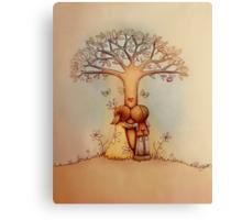 underneath the apple tree Canvas Print