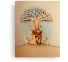 underneath the apple tree Canvas Print