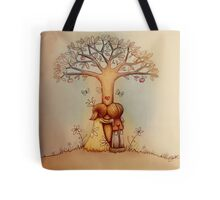 underneath the apple tree Tote Bag