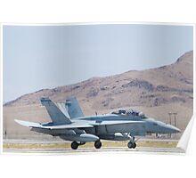 165415 F/A-18D Hornet Landing Poster