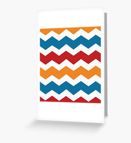 Charizard Pokemon Chevron Greeting Card