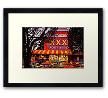 The XXX Root Beer Barrel Framed Print