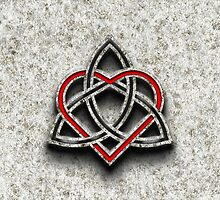 Celtic Knotwork Valentine Heart Bone Texture 1 by Brian Carson
