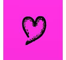 Black glitter heart Photographic Print