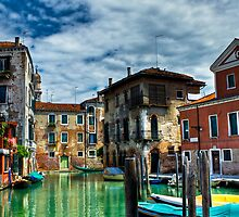 Venice Buildings on Canals by Luke Brooks