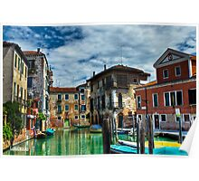 Venice Buildings on Canals Poster