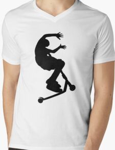 Scooter Trick - No Hander Mens V-Neck T-Shirt