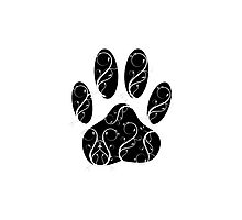 Dog Paw Print With Flourishes Photographic Print