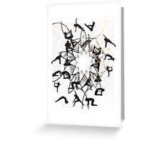 Yoga Graphic Design  Greeting Card