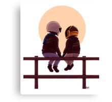Daft Punk & Sunset Canvas Print