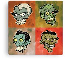 The Walking Heads  Canvas Print