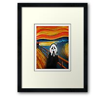 Scream Mash-up Framed Print