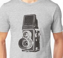Vintage Beautyflex TLR camera Unisex T-Shirt