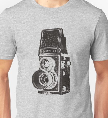 Vintage Beautyflex TLR camera Unisex T-Shirt