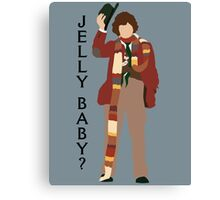 Doctor Who Tom Baker Jelly Baby minimalist Canvas Print