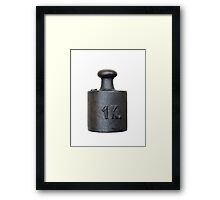weight - one kilogram Framed Print