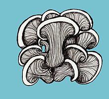 Mushrooms by Freja Friborg