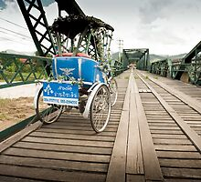 bicycle on memorial bridge, Pai by Deanne Dwight