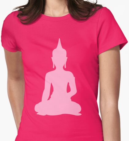Pastel Candy Buddha Womens Fitted T-Shirt