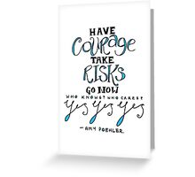 amy poehler (blue) Greeting Card