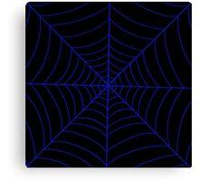 spider web (dark blue) Canvas Print