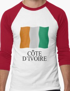 Ivory Coast flag Men's Baseball ¾ T-Shirt