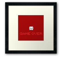 Game Over Skull Framed Print