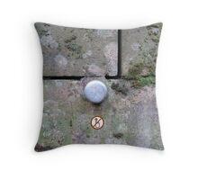 Do not push Throw Pillow